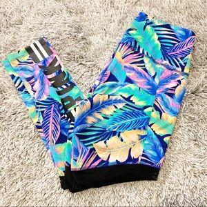 NEW Victoria's Secret Pink Palm Ultimate Leggings